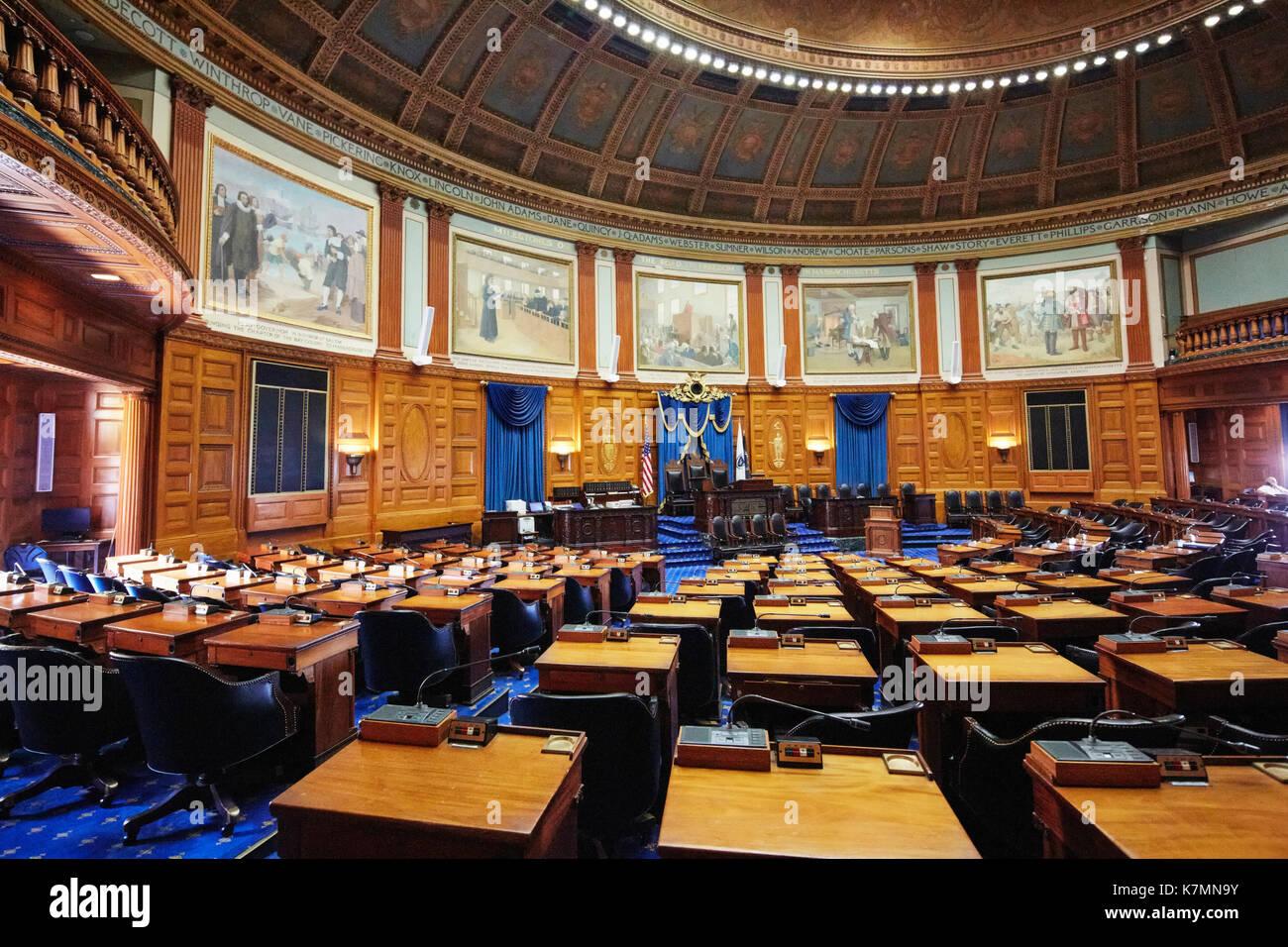 Chambre des Représentants, Massachusetts State House, Boston, MA, USA Banque D'Images