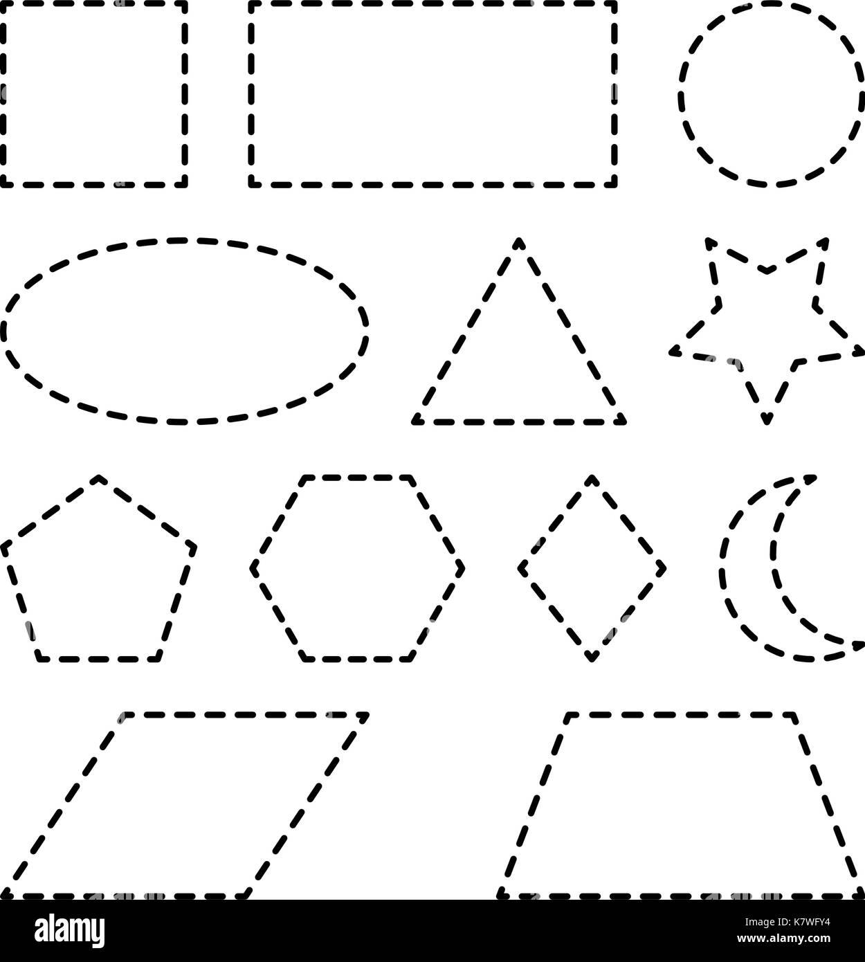 ace6a660d3452 Formes géométriques Carré, Cercle, ovale, triangle, hexagone ...