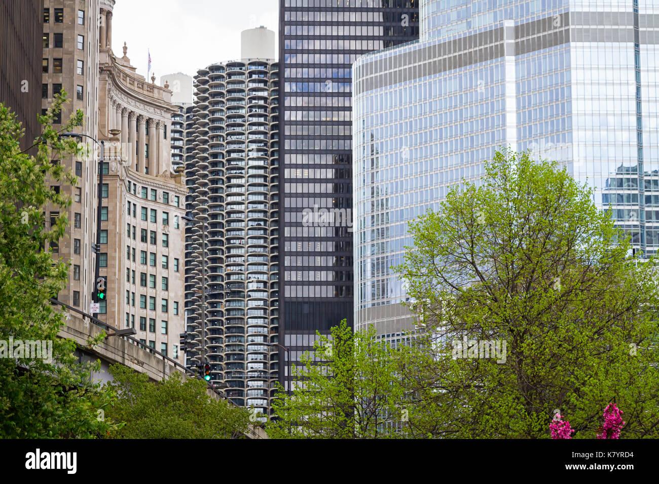 Détail de l'architecture de Chicago Banque D'Images