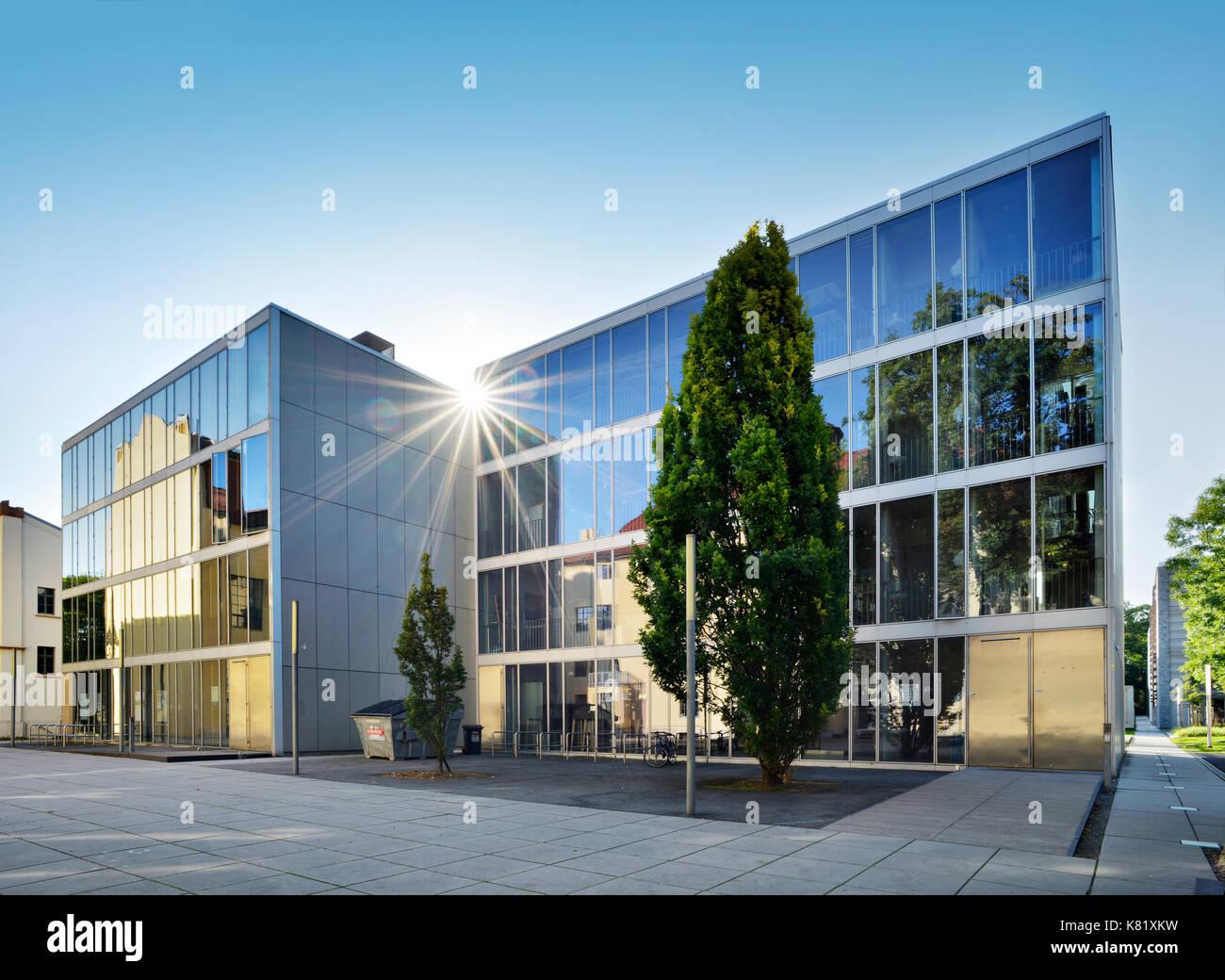 L'université Bauhaus de Weimar, verre, rayons, Weimar, Thuringe, Allemagne Banque D'Images