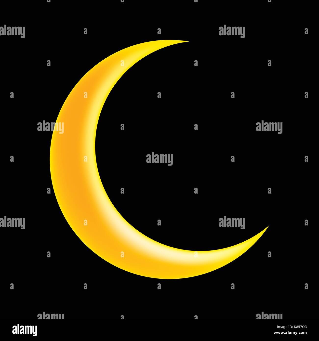 Croissant De Lune Symbole Vecteur Icone Concevoir Belle