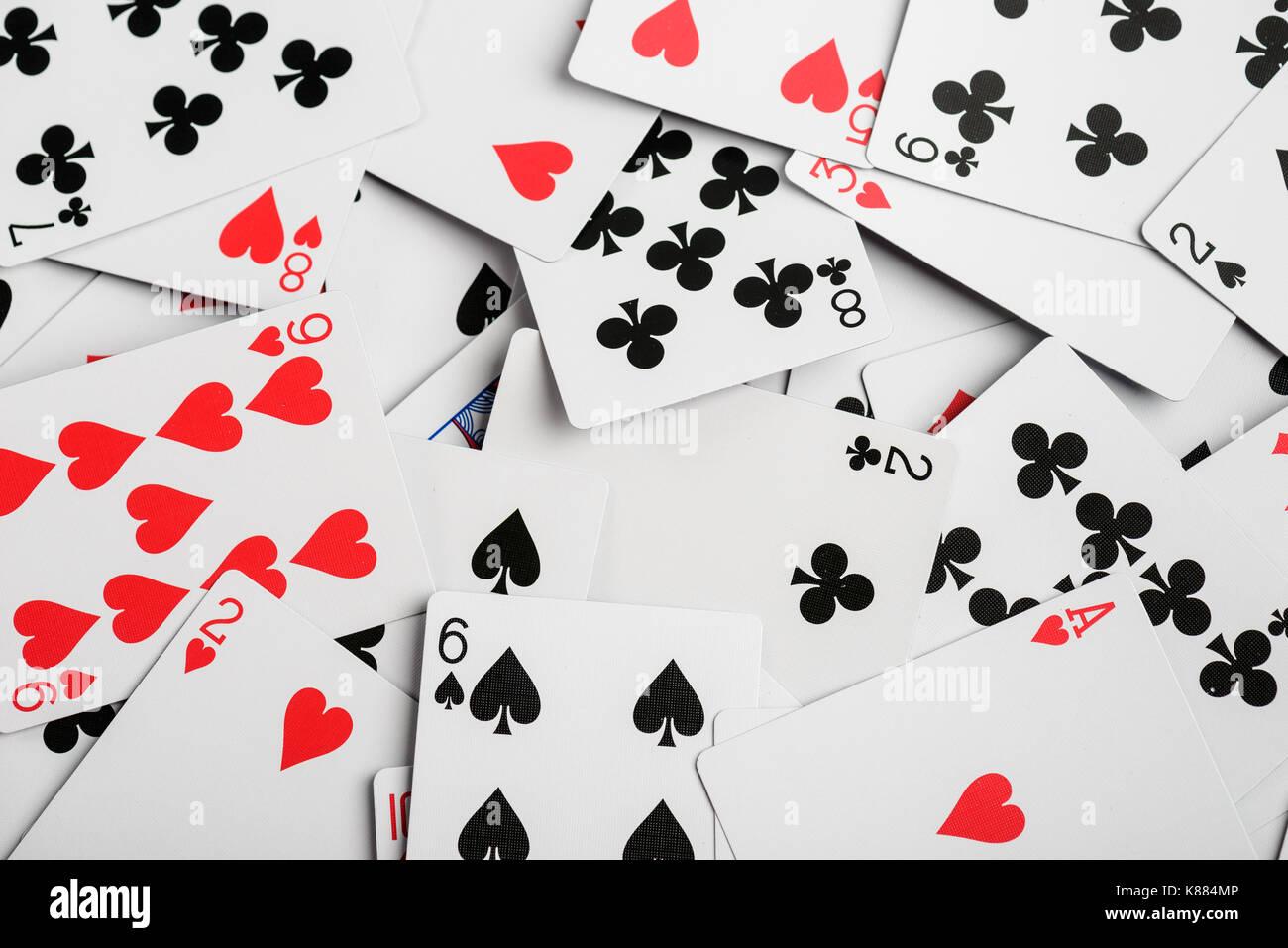 Jeu de cartes de casino en arrière-plan Photo Stock