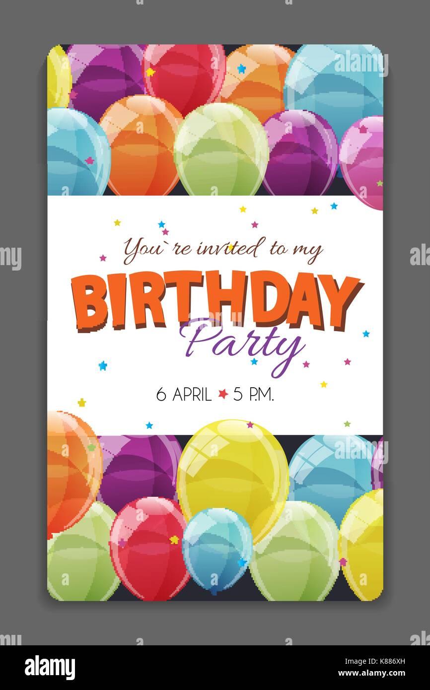 Modle de carte dinvitation anniversaire vector illustration modle de carte dinvitation anniversaire vector illustration stopboris Images