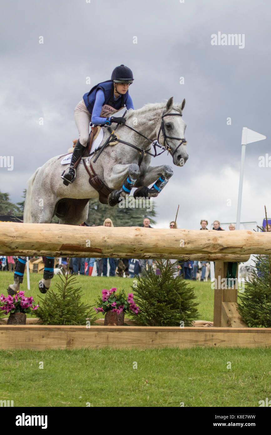 Melissa Townshend sur le choix, Blenheim Palace International Horse Trials 16 Septembre 2017 Photo Stock