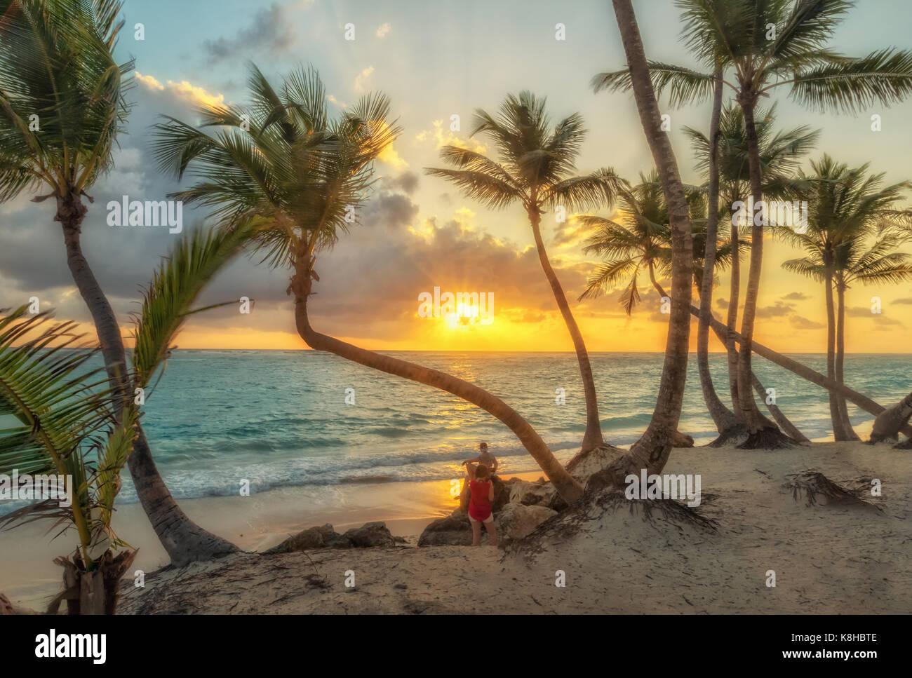 Punta Cana en République dominicaine. Photo Stock