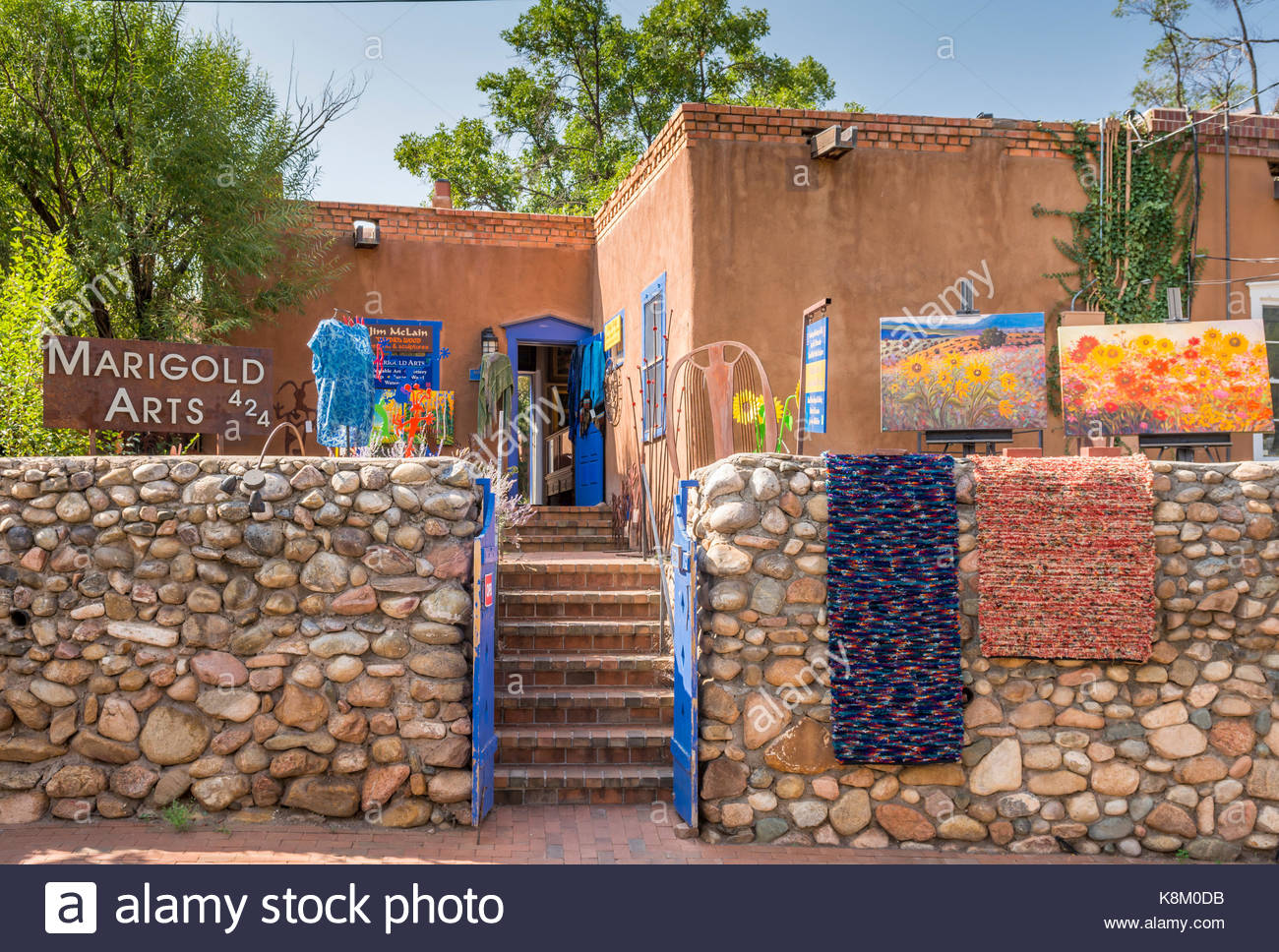 Galerie d'art sur Canyon Road, Santa Fe, New Mexico, USA Photo Stock