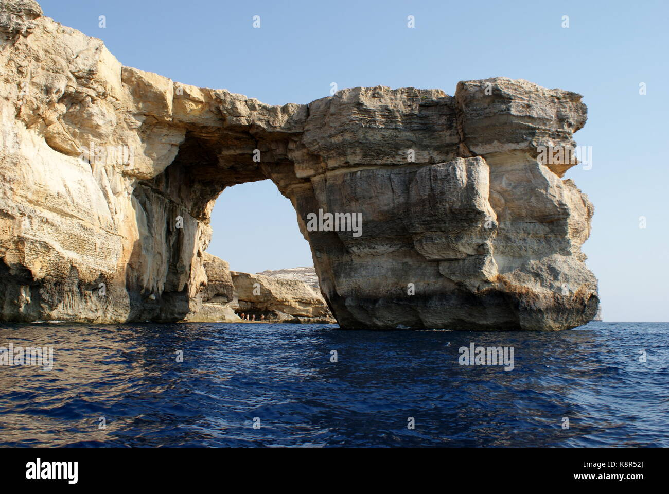 La fenêtre d'Azur, Dwejra bay, San Lawrenz, Gozo, Malte Photo Stock