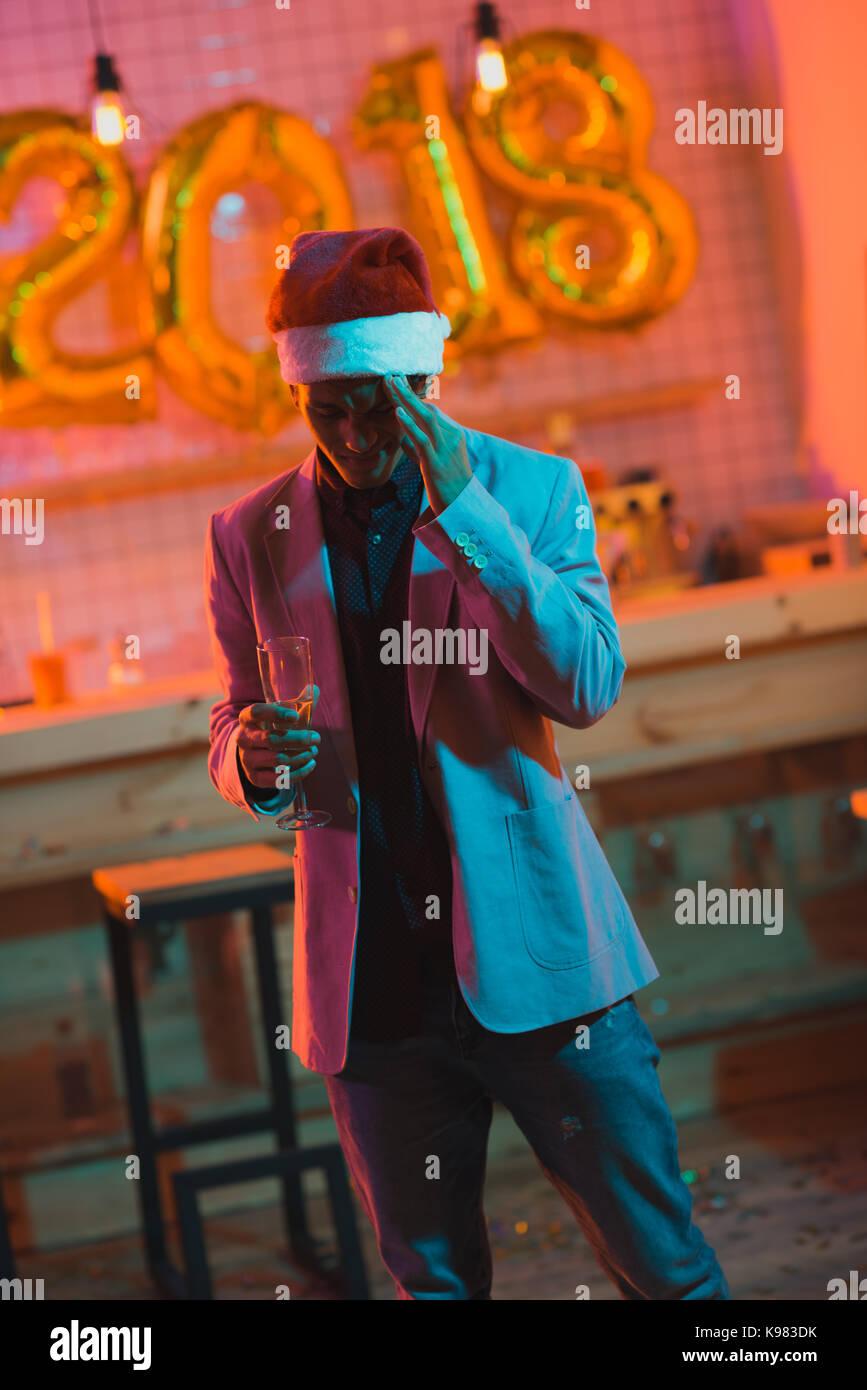 African American man ayant des maux de tête Banque D'Images