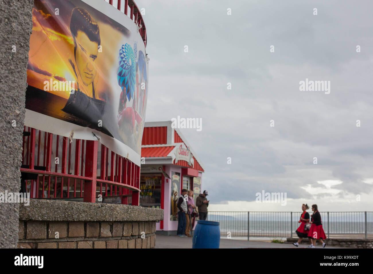 Porthcawl, Pays de Galles, Royaume-Uni. 22 sep, 2017. Vue générale du front de mer de Porthcawl le premier Photo Stock