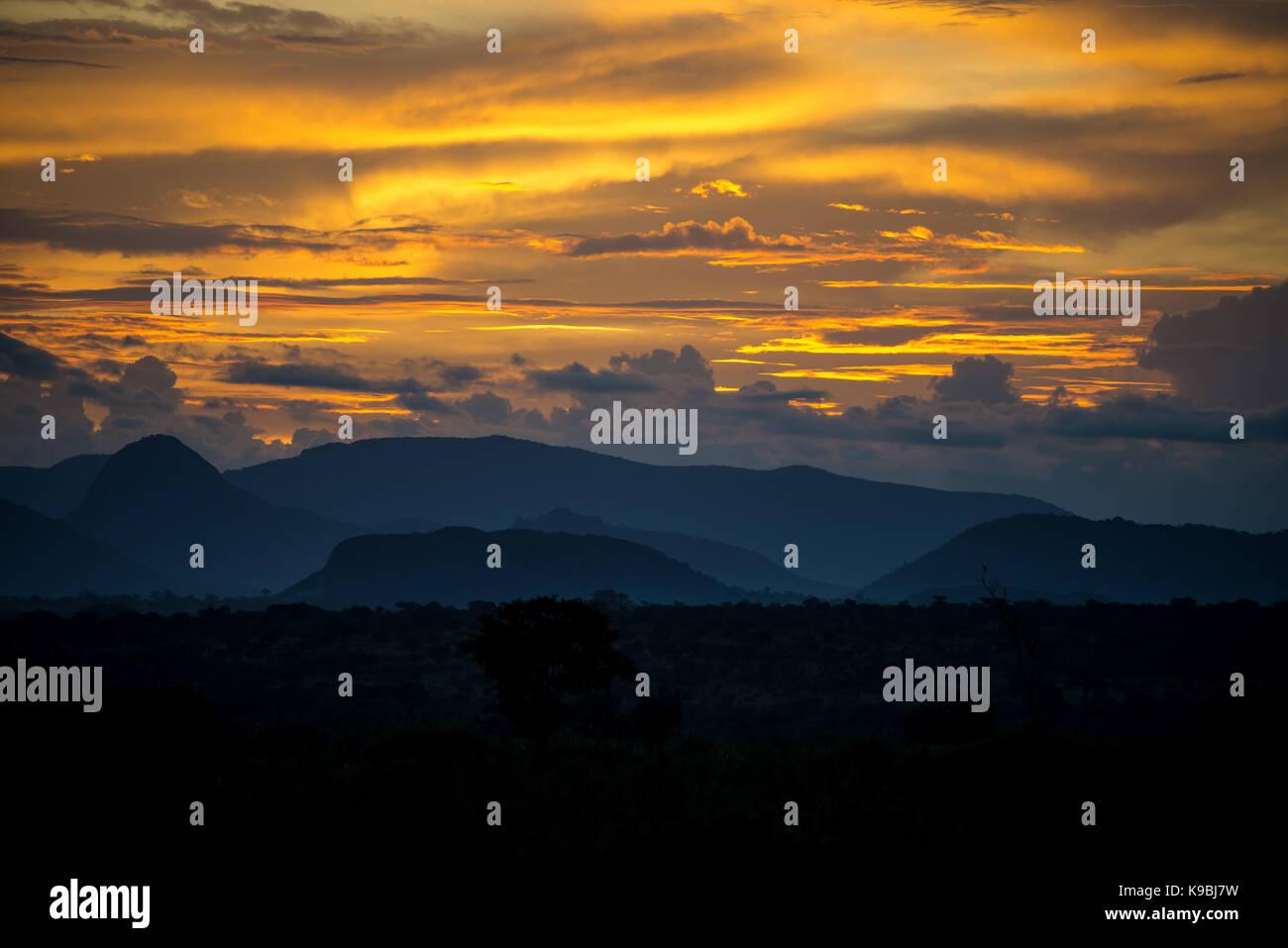 Coucher du soleil à Alto Hama Photo Stock
