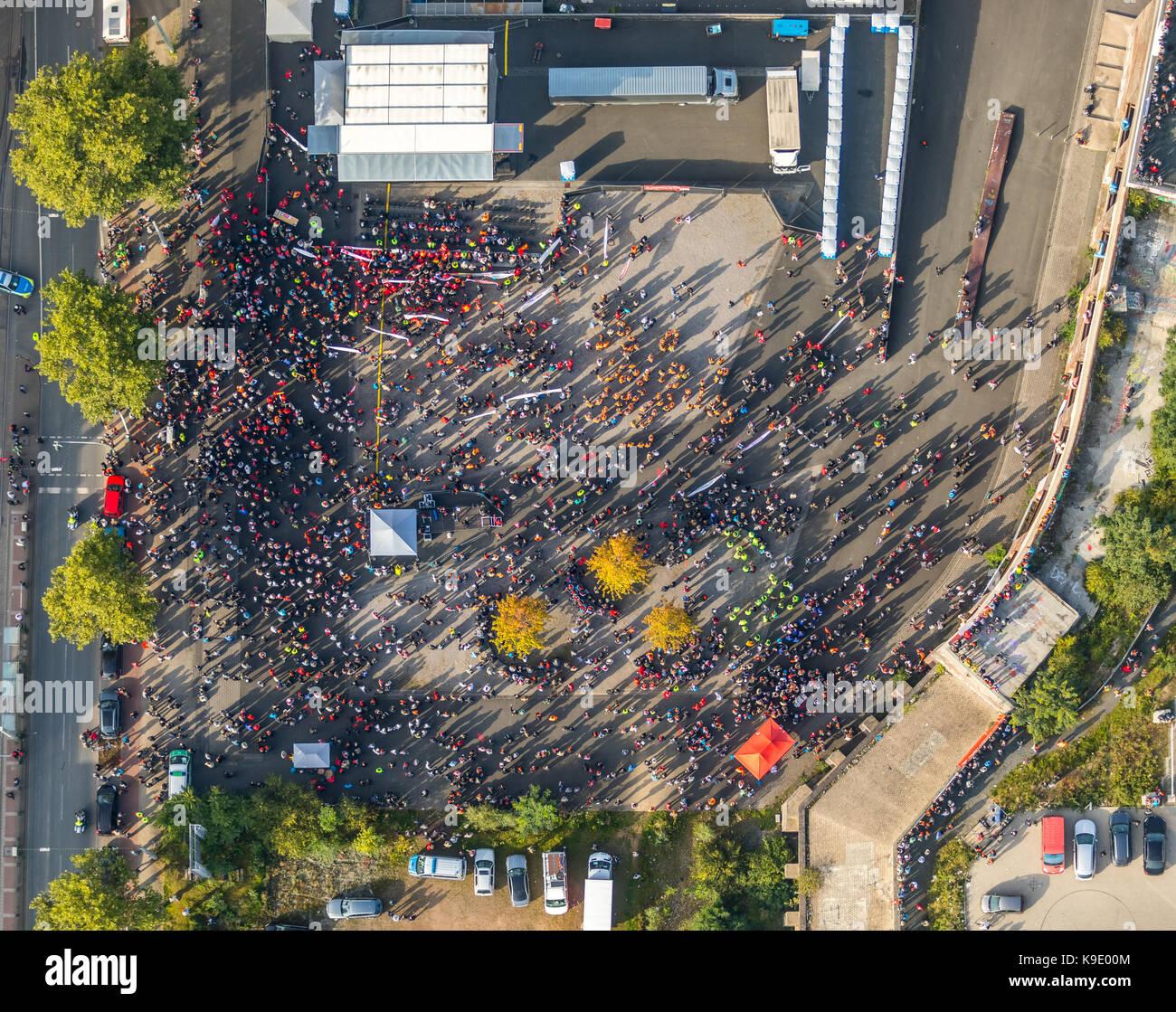 Manifestation des travailleurs de l'acier à Bochum, contre la fusion de thyssenkrupp steel et tata de l'Inde, Photo Stock