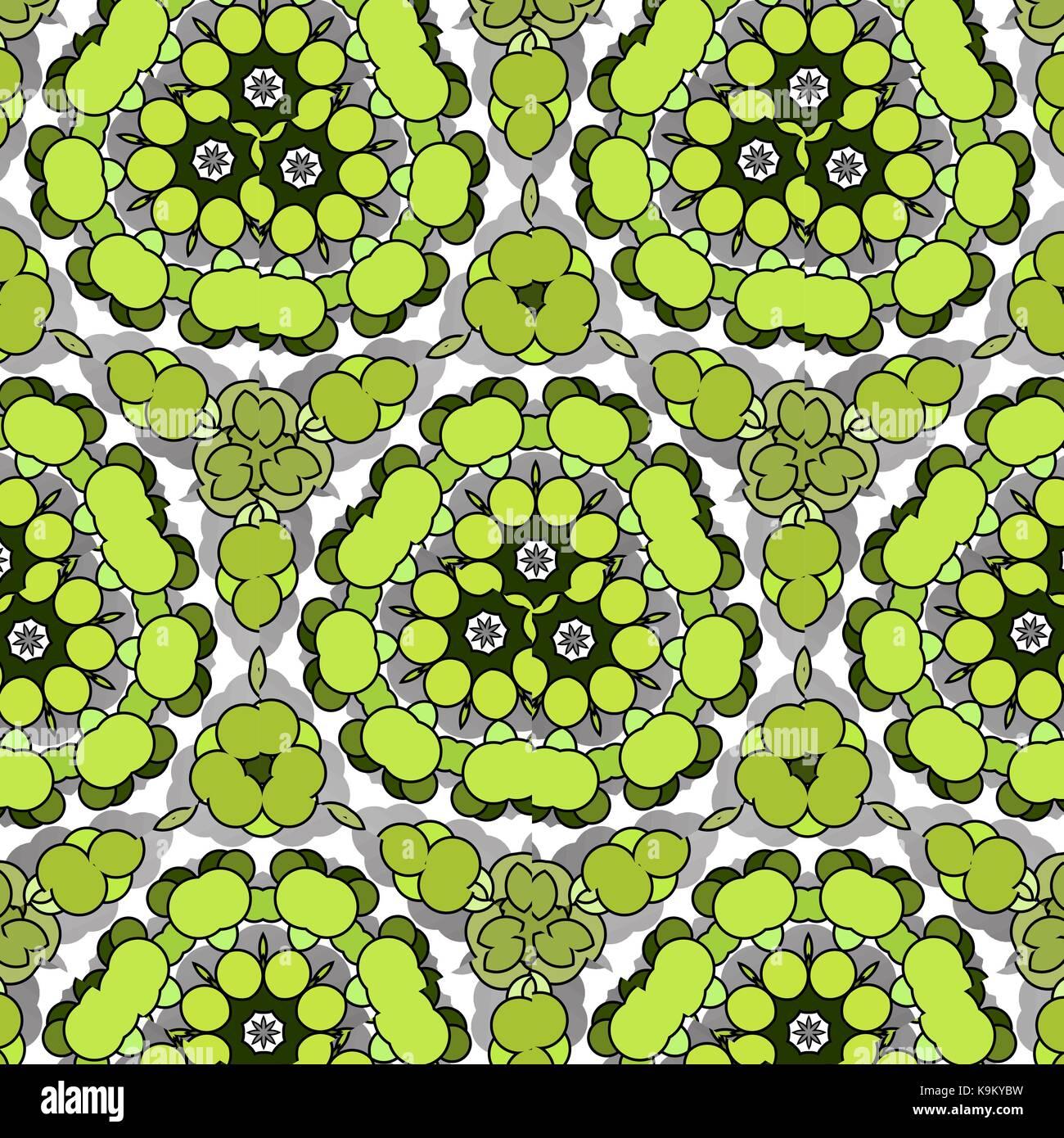 Funny drôle, amusant avec des cercles lumineux naturel. fond vert. Photo Stock