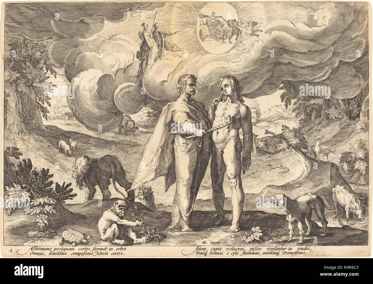 Prométhée créant l'homme eau-forte 17,5 x 25,1 cm Washington DC, NGA Banque D'Images