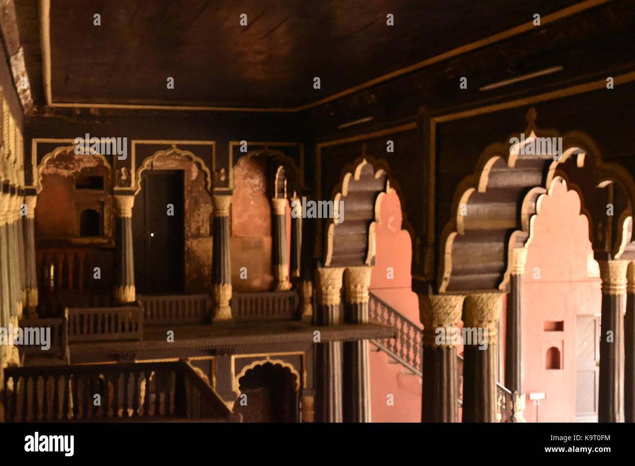 D'été de Tipu Sultan Palace, Bangalore Banque D'Images