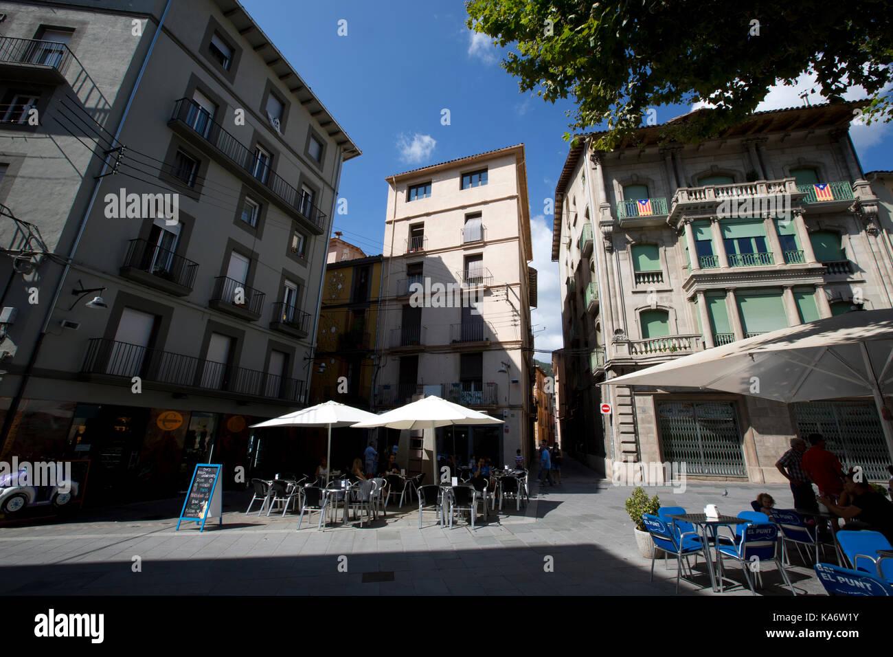 Ripoll, ville de montagne d'environ 10 000 personnes rentrées dans les contreforts des Pyrénées, au nord de Barcelone, Catalogne, Espagne Banque D'Images