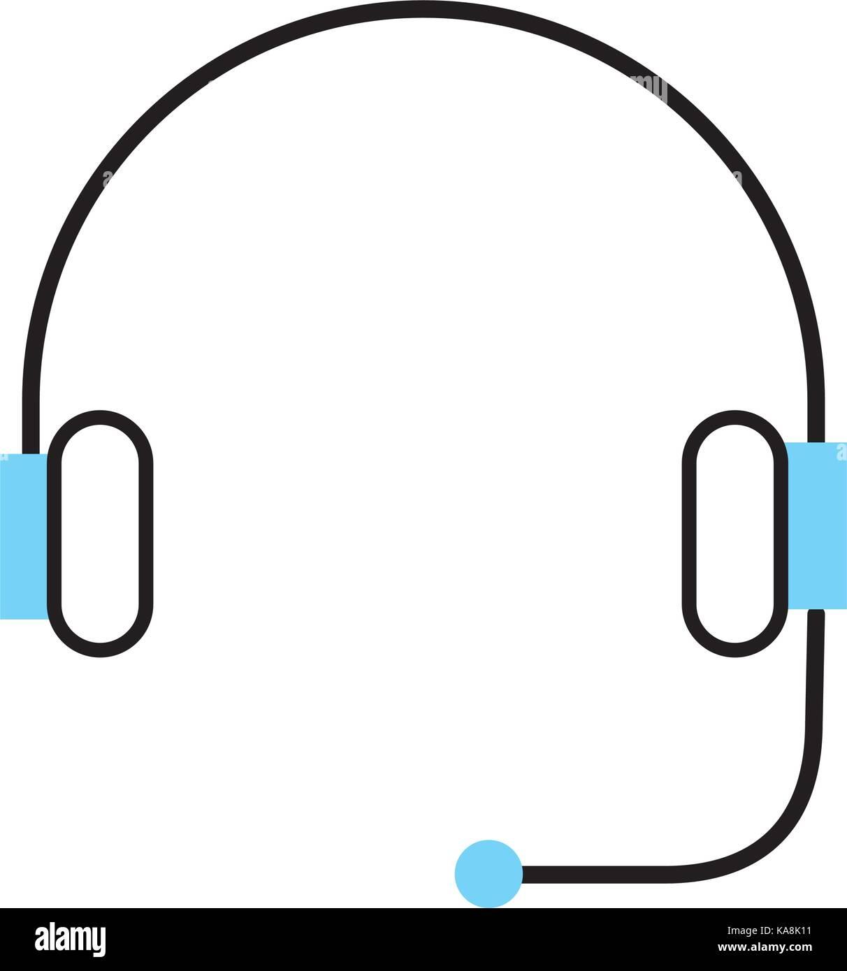 Support pour casque ou du service client Photo Stock