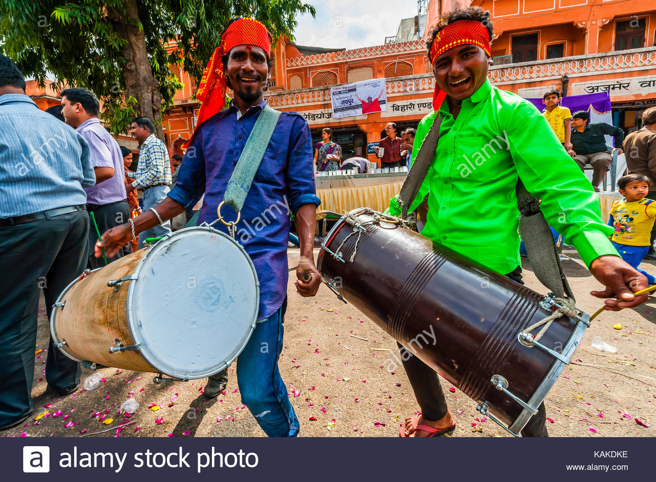 Un hindou local festval, Jaipur, Rajasthan, Inde. Photo Stock