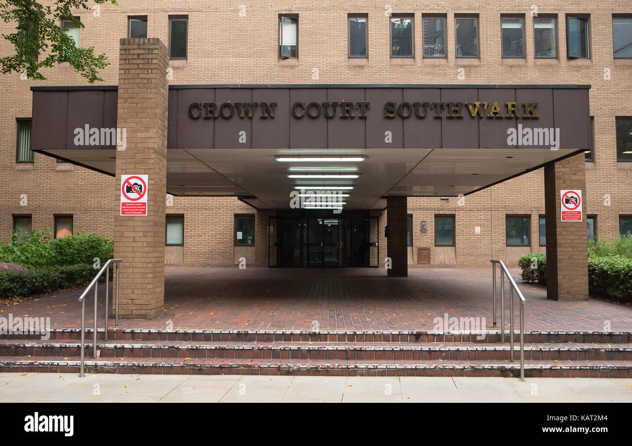 Southwark Crown Court Vue Générale GV, 1 motifs anglais, London SE1 2HU Photo Stock
