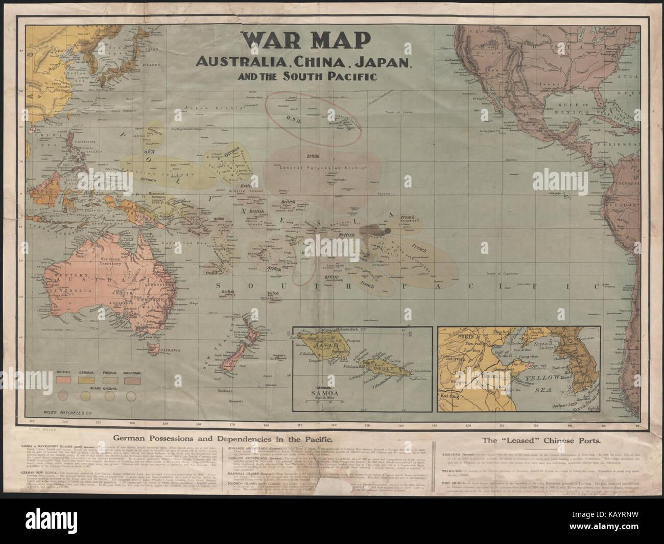 Carte Australie Chine.Carte De La Guerre De L Australie La Chine Le Japon Et Le