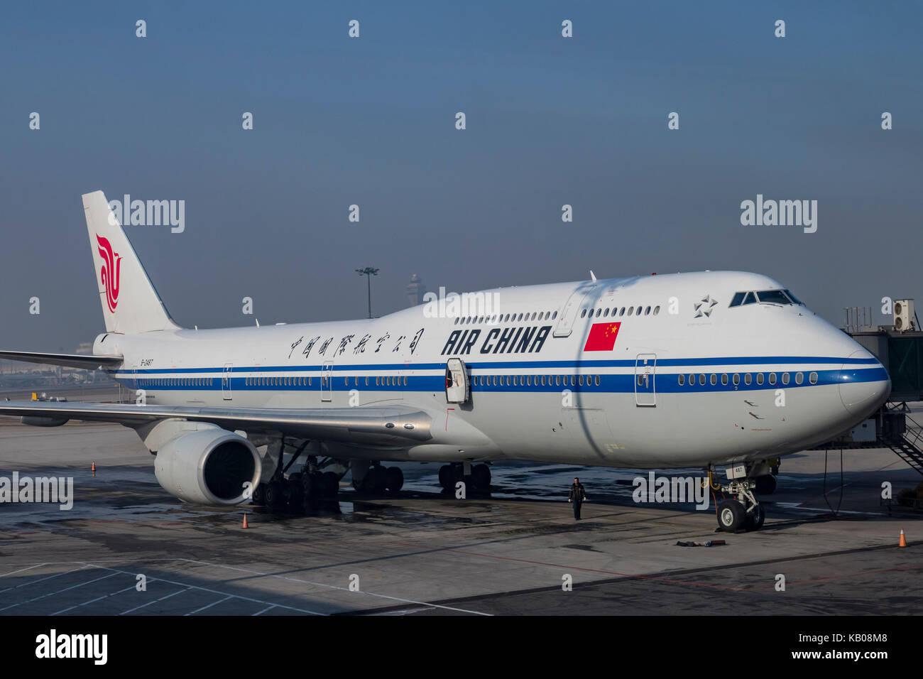 Beijing, jan 3: Air China de l'aéroport international de Beijing à Beijing, Chine Photo Stock