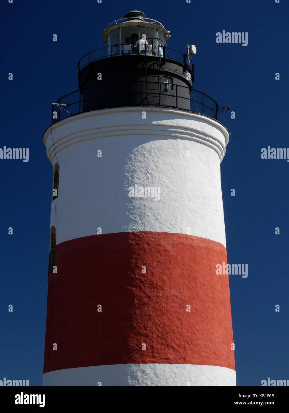 Le phare de Söderarm, à l'extérieur de Räfsnäs, Gräddö, Rådmansö dans l'archipel de Roslagen à Stockholm, en Suède, en Europe. Banque D'Images