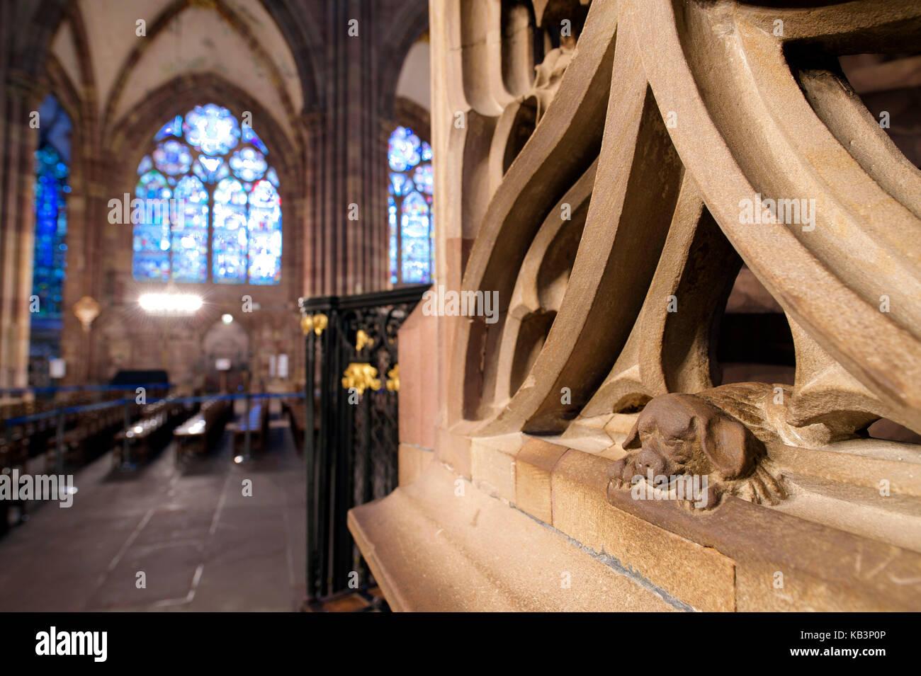 La France, Bas Rhin, Strasbourg, vieille ville classée au patrimoine mondial de l'unesco, la cathédrale Photo Stock
