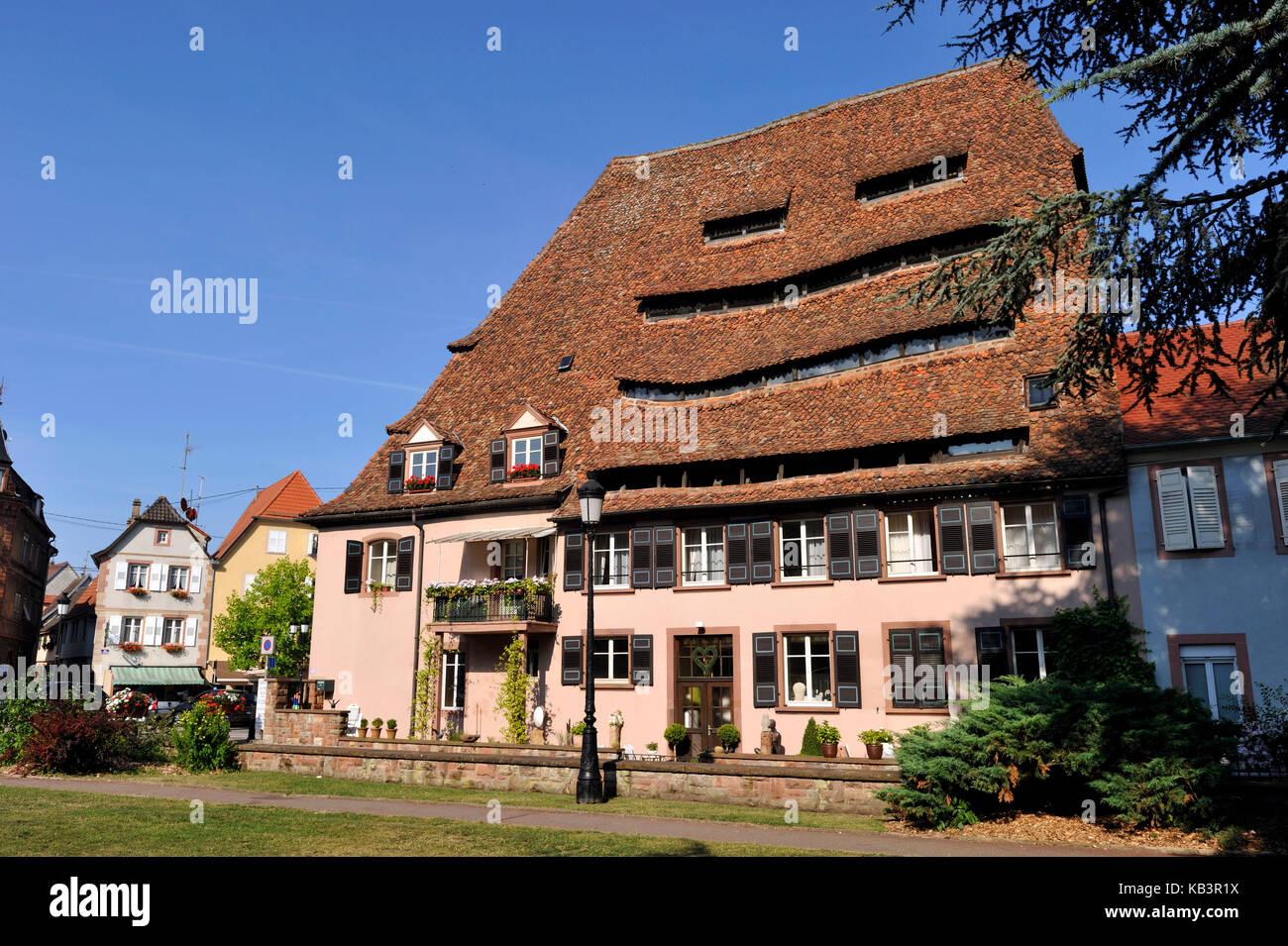 France, Alsace, wissembourg, maison du sel (salt house) Photo Stock