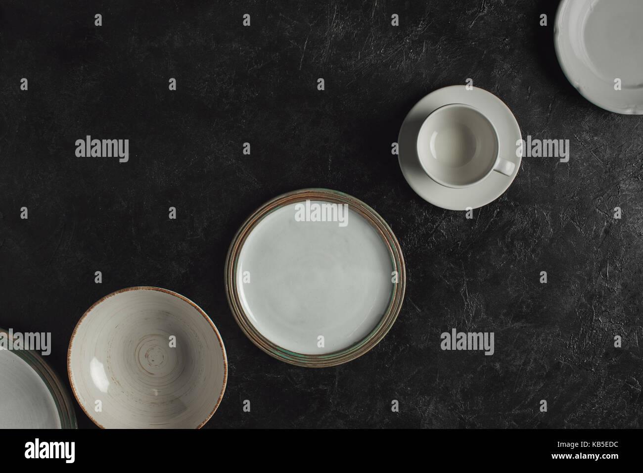 Vaisselle en céramique Banque D'Images