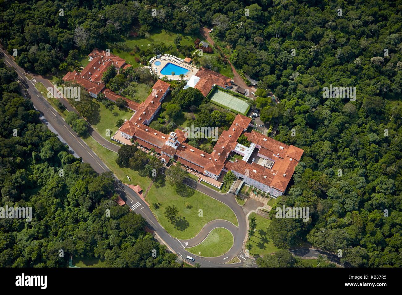 Belmond hotel das cataratas d'Iguazu, l'Etat du Parana, Brésil, Amérique du sud - vue aérienne Banque D'Images