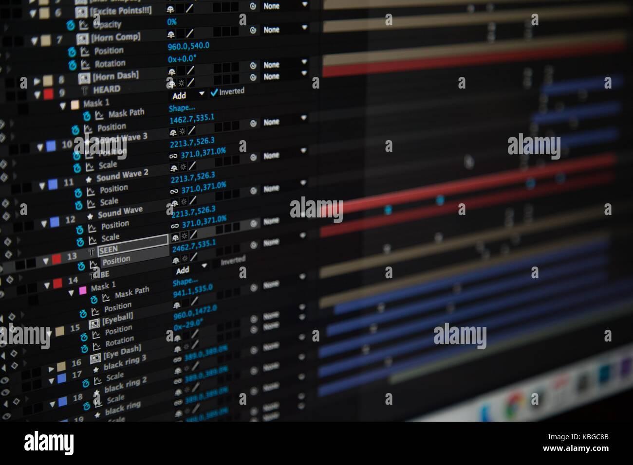 Logiciel sur écran d'ordinateur Photo Stock