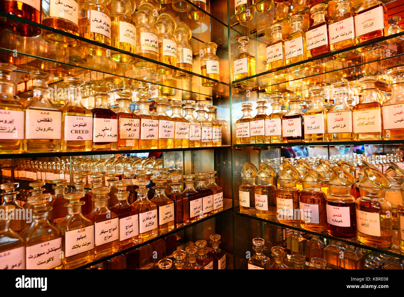 Boutique de parfum, Amman, Jordanie Photo Stock