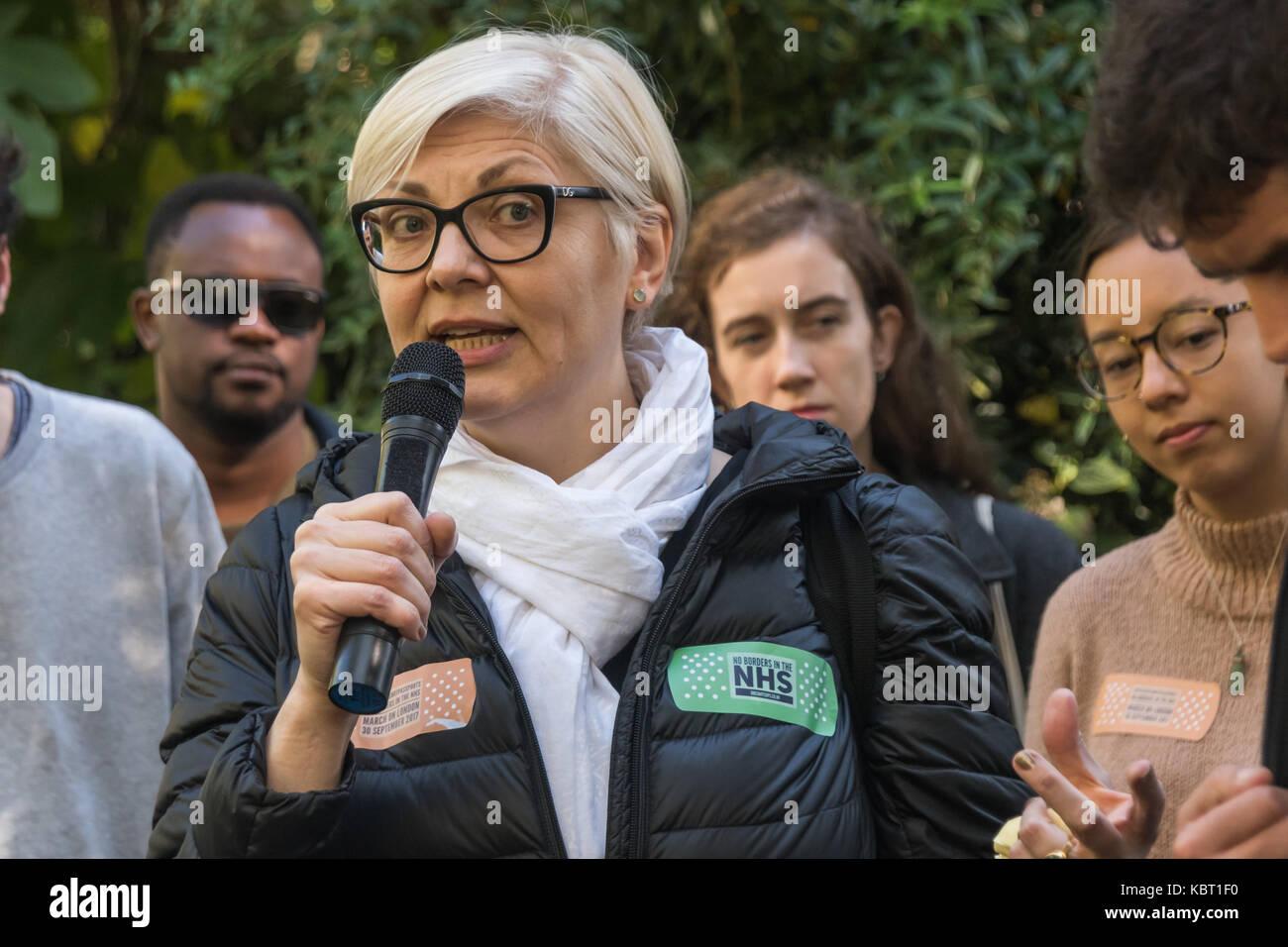 Londres, Royaume-Uni. 30 Septembre, 2017. Zrinka Bralo de migrants Organiser parle au début du mois de mars Photo Stock
