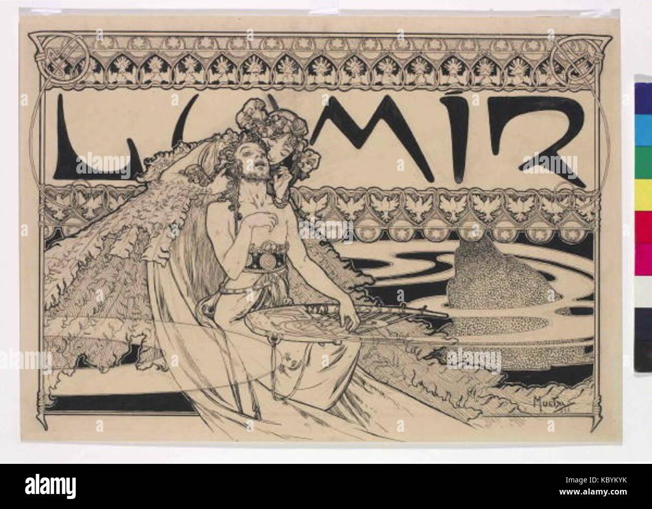 Autor Alfons Mucha 24.7.1860 14.7.1939 Zahlavi casopisu Lumir Banque D'Images
