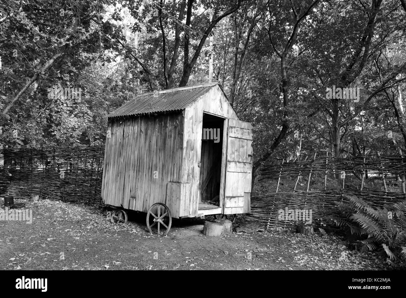 Abri de jardin bois sur roues Grande-bretagne Uk Banque D ...