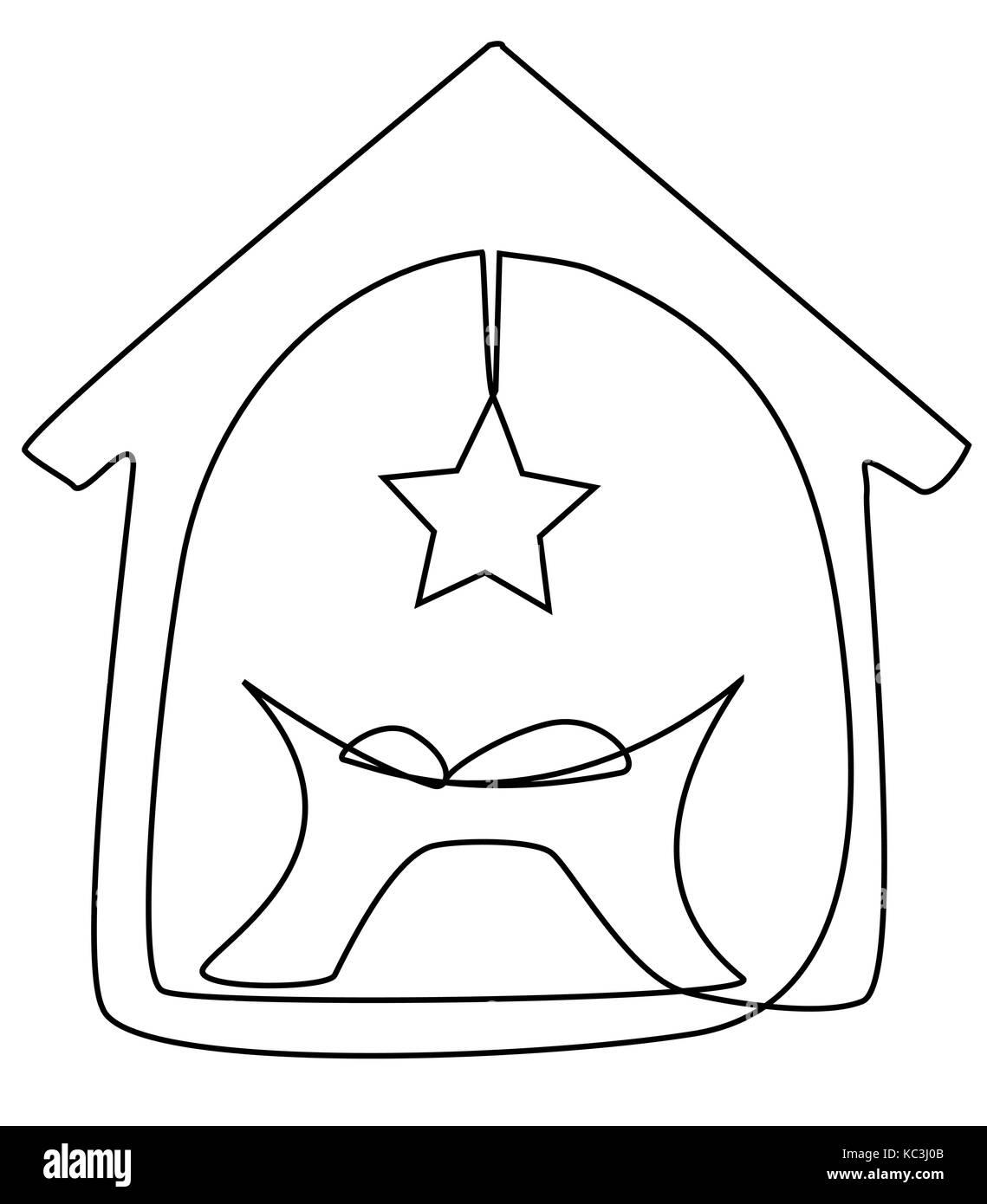 Jesus Bebe Enfant Un Dessin Image Vectorielle Stock Alamy
