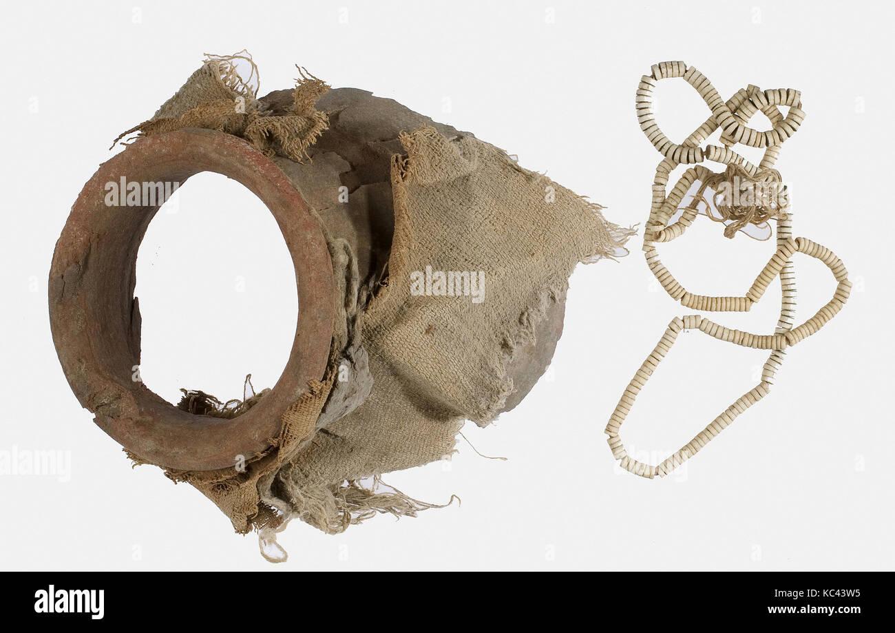 Fragment Jar avec joint d'étanchéité au cou intact, ca. 1802-1450 av. Photo Stock