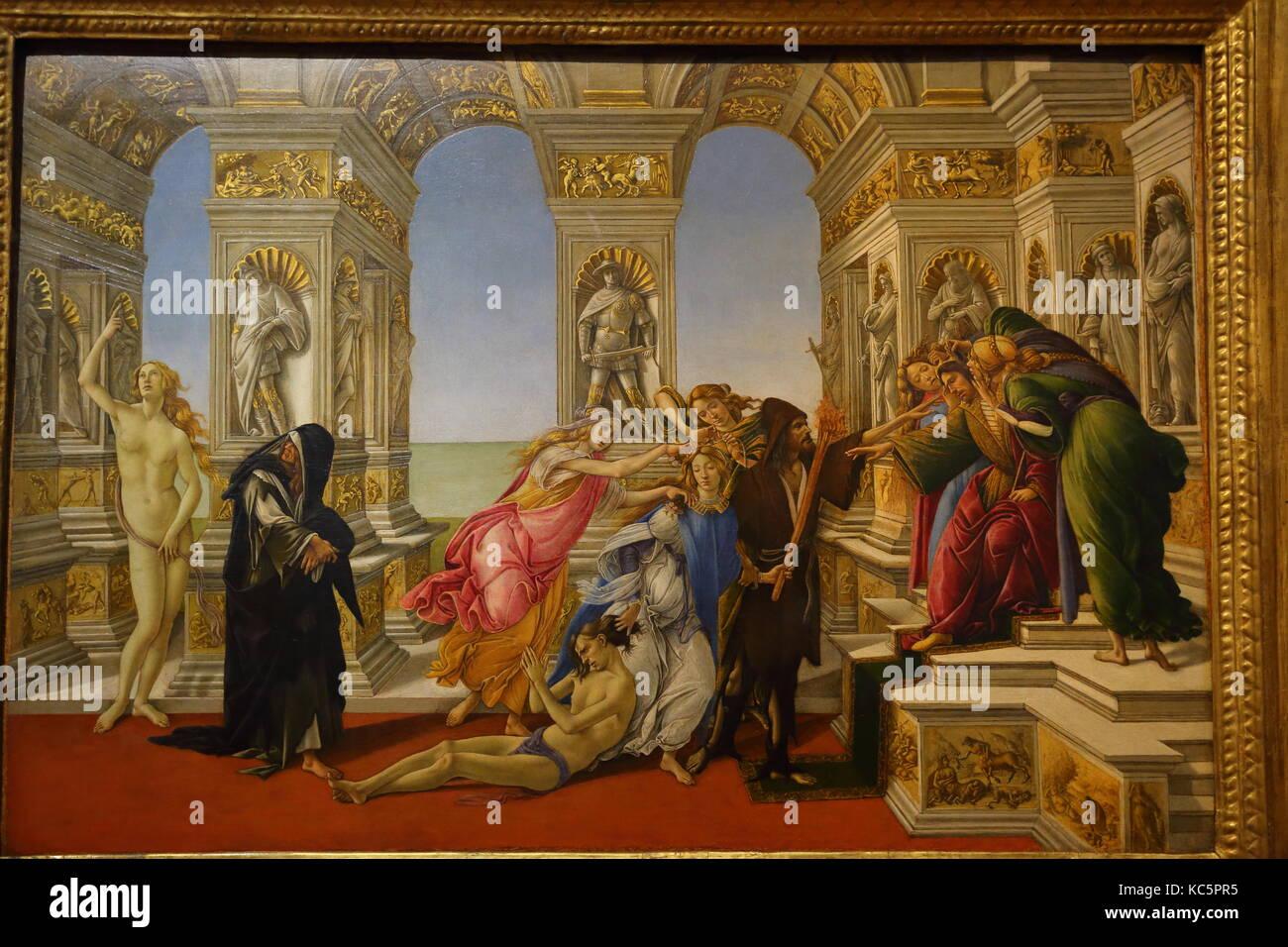 Peintures expos es la galerie des offices galleria degli uffizi florence italie banque d - Galerie des offices a florence ...