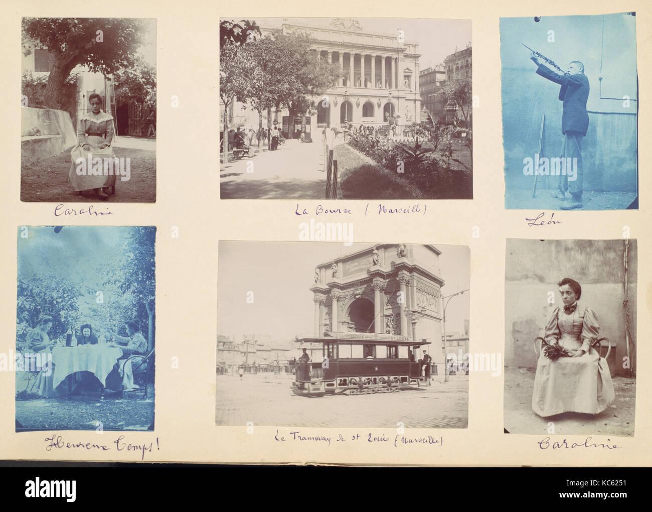 Album de 131 visites d'une famille française et leurs voyages, Inconnu, années 1880-Années 1900 Photo Stock
