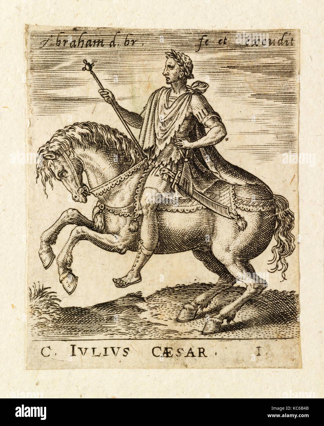 Dessins et estampes, Print, C. Julius Caesar de douze Césars à cheval, artiste, Abraham de Bruyn, flamand, Anvers 1540 Banque D'Images