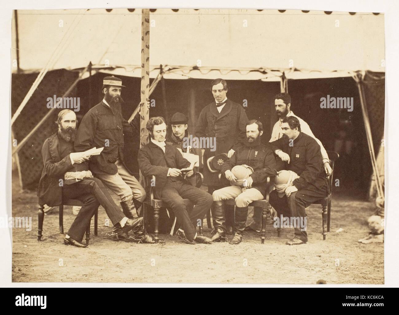 Portrait de groupe: (L-R) Col.Yule P.W.D., le Major Jones A.D.C., M. Walters, le capitaine Stanley A.D.C., Photo Stock