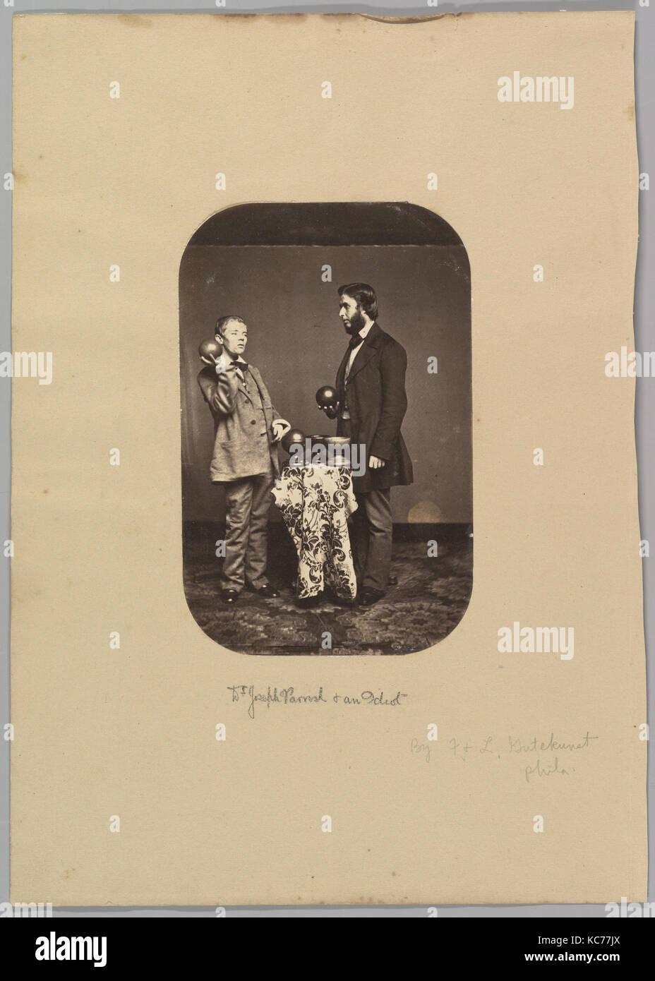 Le Dr Joseph Parrish et un idiot, Frederick Gutekunst, ca. 1858 Photo Stock