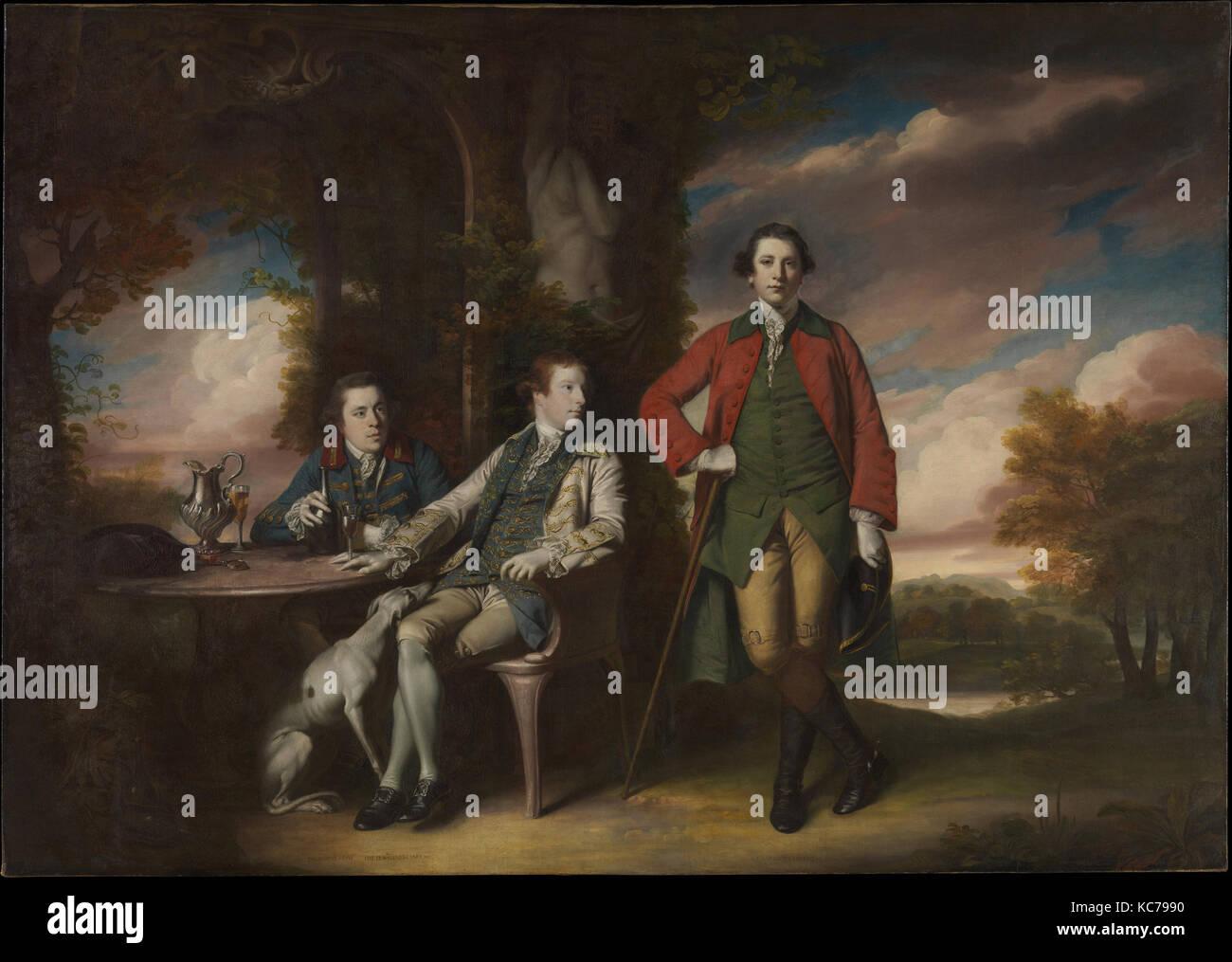 L'honorable Henry Fane (1739-1802) avec Inigo Jones et Charles Blair, Sir Joshua Reynolds, 1761-66 Banque D'Images