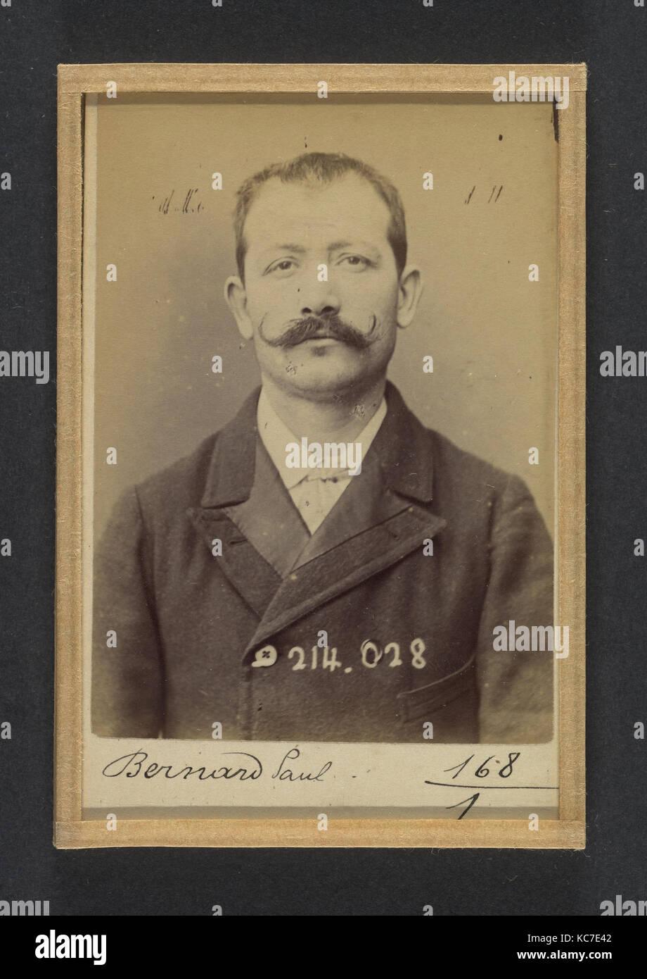 Bernard. Paul, Auguste. 32 ans, né à Crest (Drôme). Employé. L'excitation au meurtre, anarchiste. Photo Stock