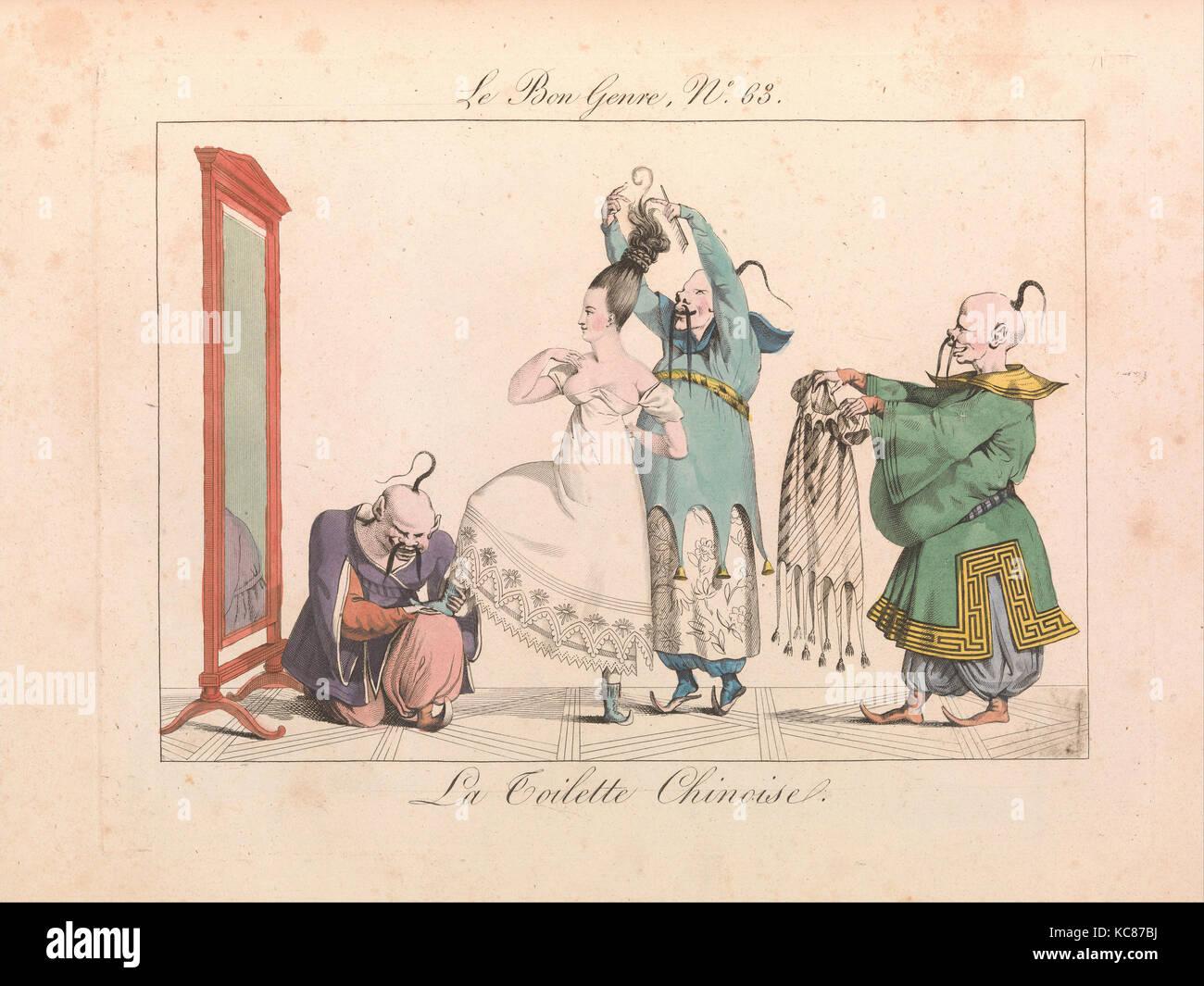 Le Bon Genre: Observations sur les modes et les usages de Paris, 1827 Photo Stock