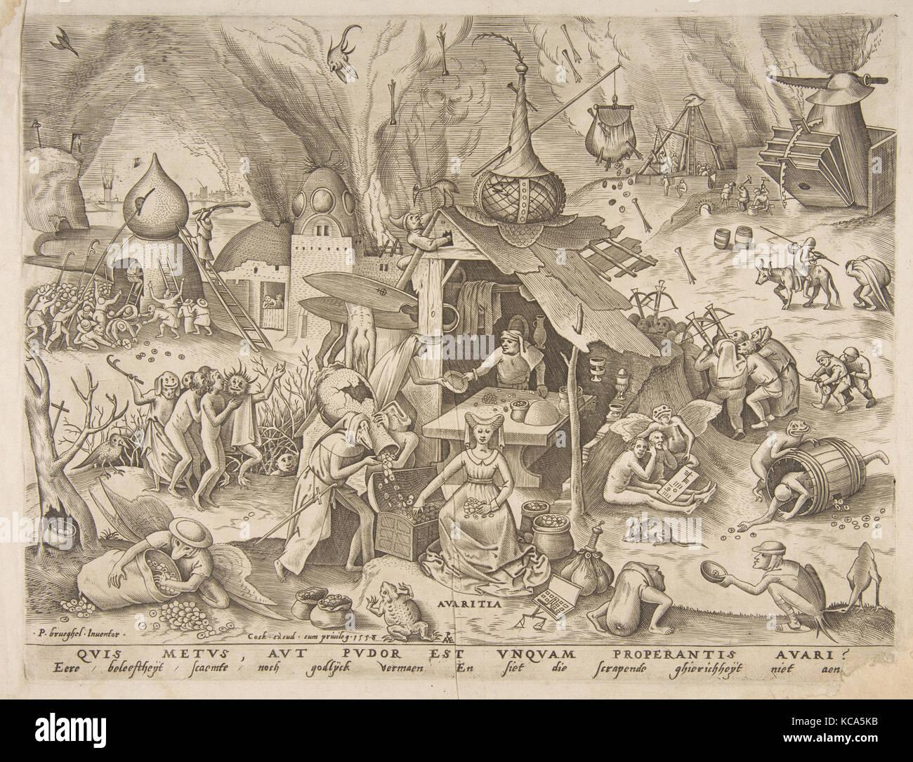 photo Framed print 7 péchés capitaux la gourmandise par pieter bruegel the elder 1558