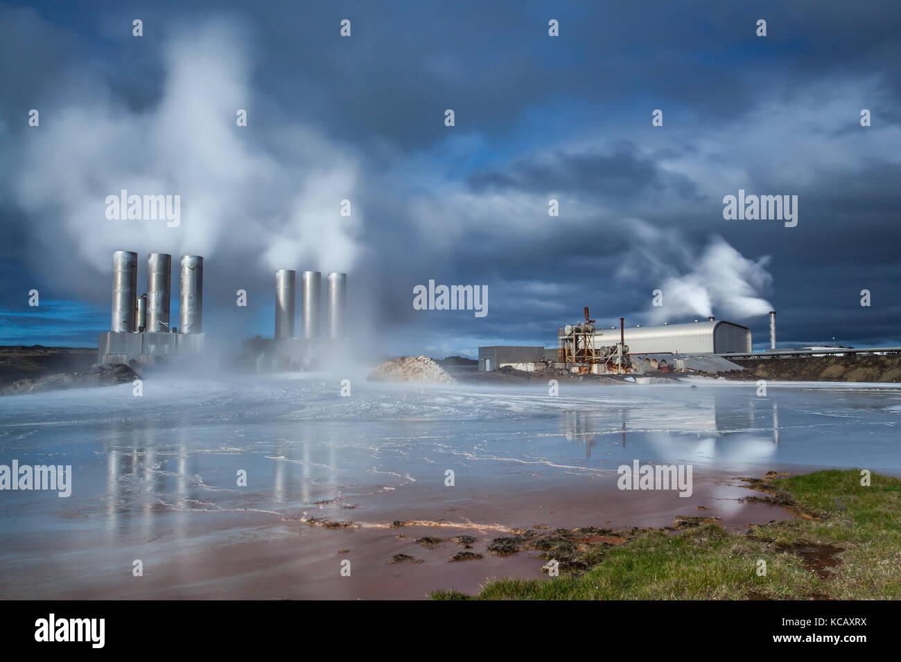 Centrale géothermique Photo Stock