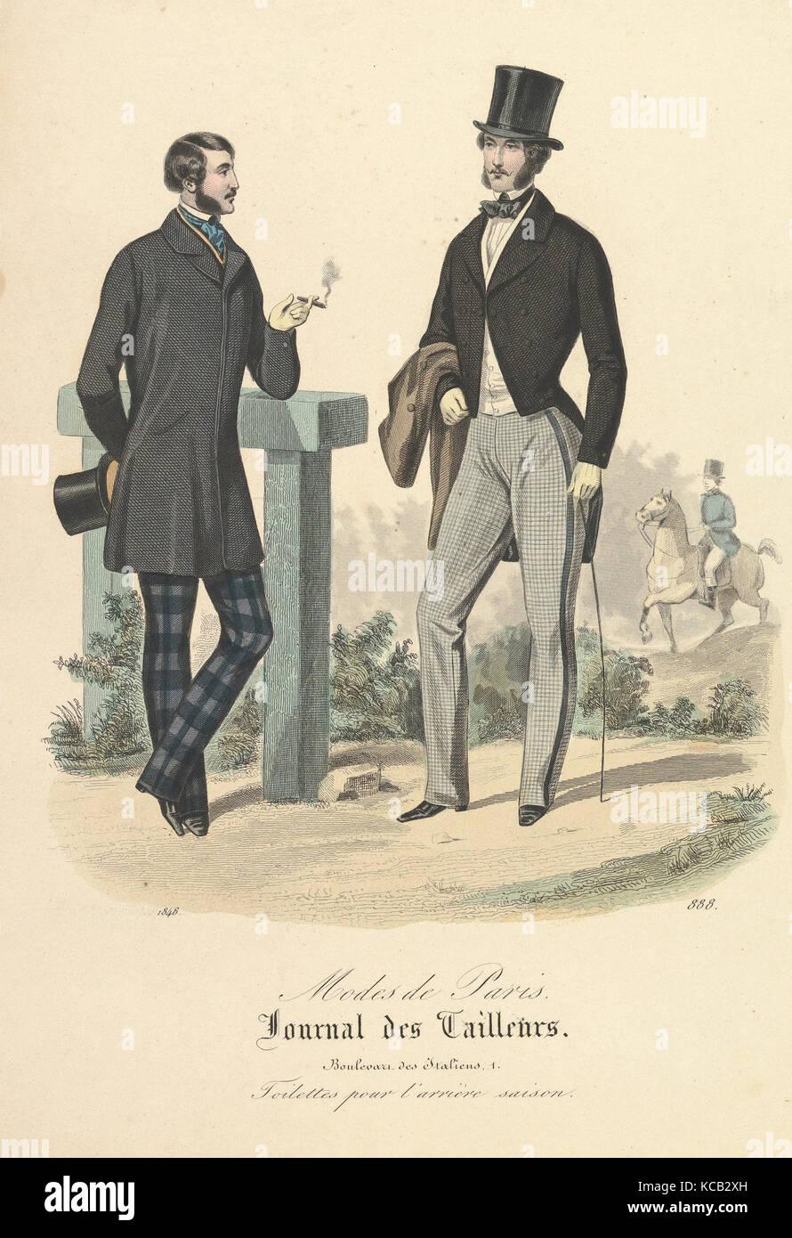 888 à partir de modes de Paris, Journal des tailleurs, anonyme, le français, 19e siècle, 1848 Photo Stock
