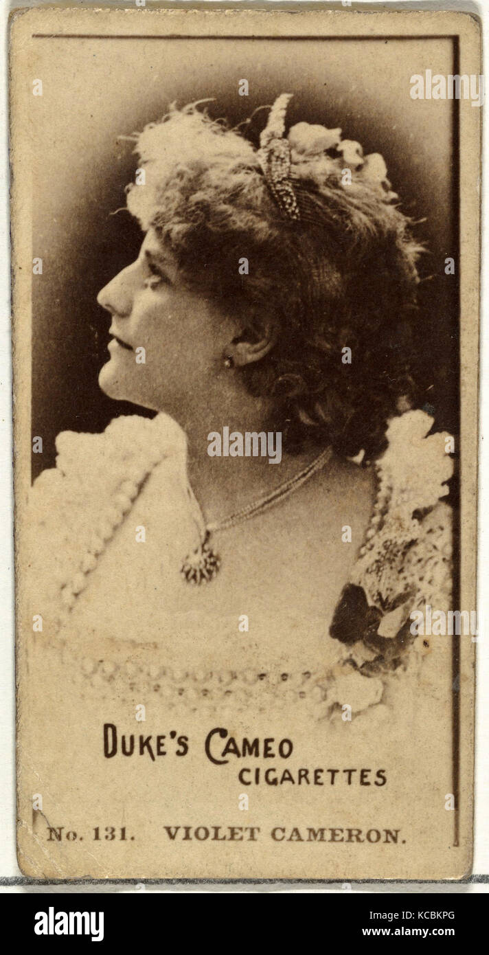 Dessins et gravures, photographies, numéro de carte 131, Violet Cameron, acteurs et actrices de la série Photo Stock