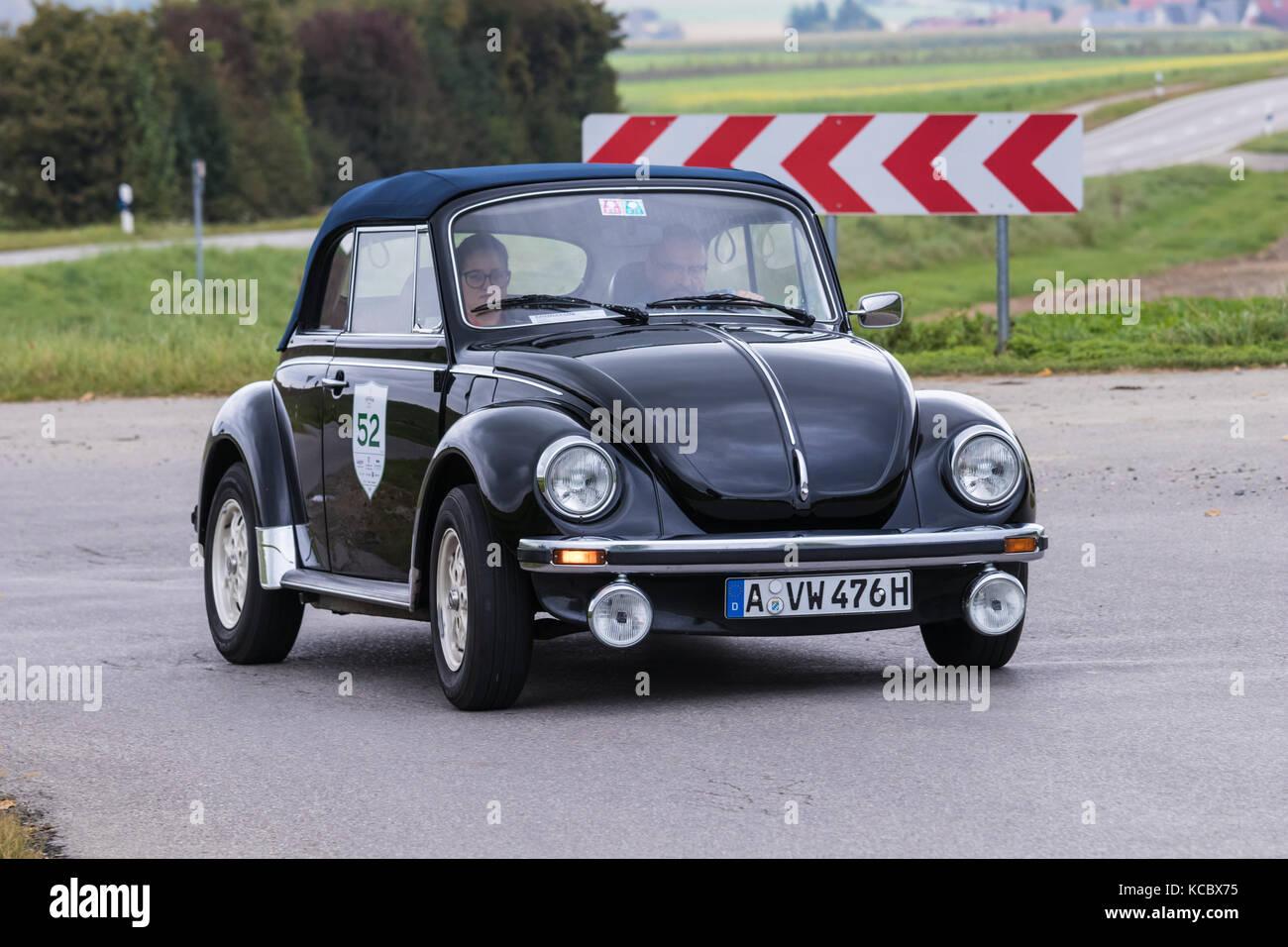 Augsburg, Allemagne - 1 octobre 2017: Volkswagen Beetle ls 1303 type 1 voiture à l'oldtimer classic 2017 fuggerstadt oldtimer rallye le 1 octobre, 2017 Banque D'Images