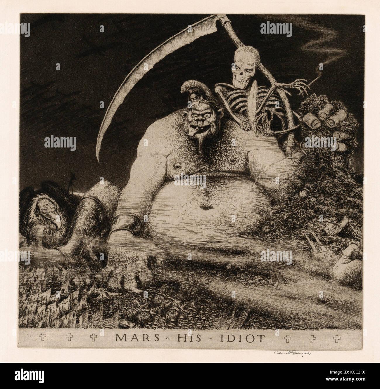 Dessins et estampes, Print, mars son idiot, artiste, Kerr Eby, American, Tokyo, Japon, 1889-1946, Eugène Labiche, Photo Stock